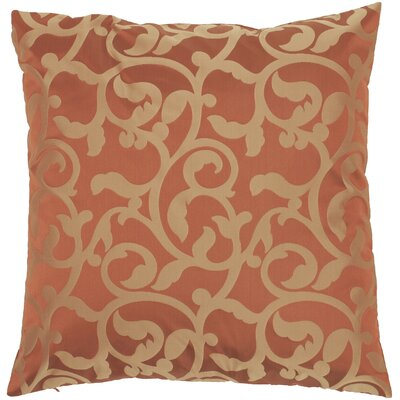 Secretariat Scroll Throw Pillow Color: Red/Gold, Fill Material: Down