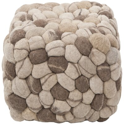 Parsons Square Cube Ottoman Upholstery: Oyster Gray / Desert Sand
