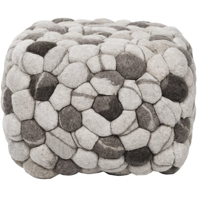 Parsons Square Cube Ottoman Upholstery: Winter White / Charcoal Gray