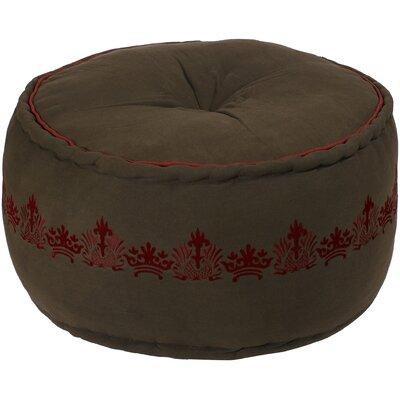 Carice Ottoman Upholstery: Wenge / Maroon