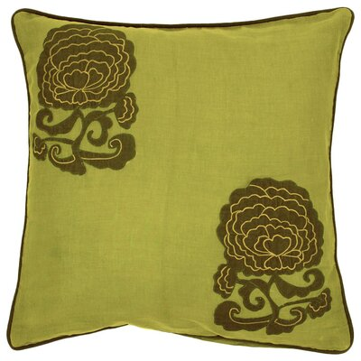 Bowen Fringed in Floral Cotton Throw Pillow Size: 22, Fill Material: Polyester