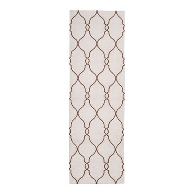 Toups Hand-Woven Ivory Area Rug Rug Size: Runner 26 x 8