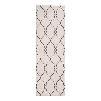 Asro Hand-Woven Ivory Area Rug Rug Size: Runner 26 x 8