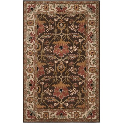 Donegal Golden Brown Area Rug Rug Size: 33 x 53