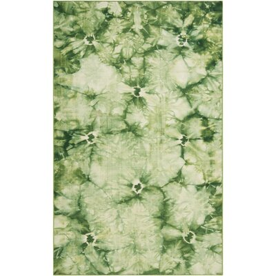 Mahoney Green Area Rug Rug Size: 8 x 11