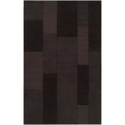 Juney Handmade Dark Brown Area Rug Rug Size: 5 x 8