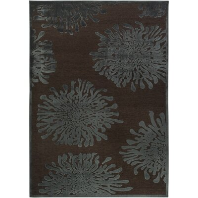 Nyla Mushroom/Teal Area Rug Rug Size: Rectangle 52 x 76