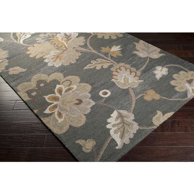 Quincy Hand-Woven Pewter Area Rug Rug Size: Rectangle 8 x 11