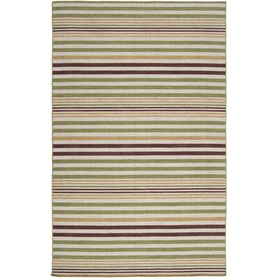 Carressa Hand-Woven Burnt Umber Area Rug Rug Size: Rectangle 5 x 8