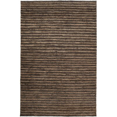 Bedford Hand-Woven Black Olive Area Rug Rug Size: 2 x 3