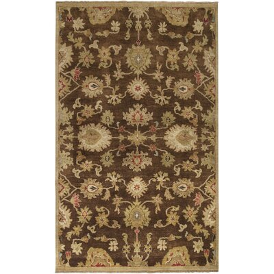 Carrickfergus Hand-Knotted Brown Area Rug Rug Size: Rectangle 2' x 3'