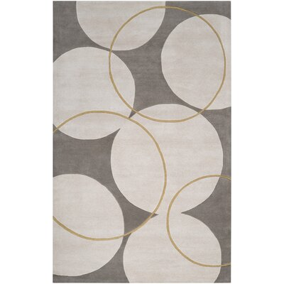 Truro Grey Area Rug Rug Size: Rectangle 33 x 53