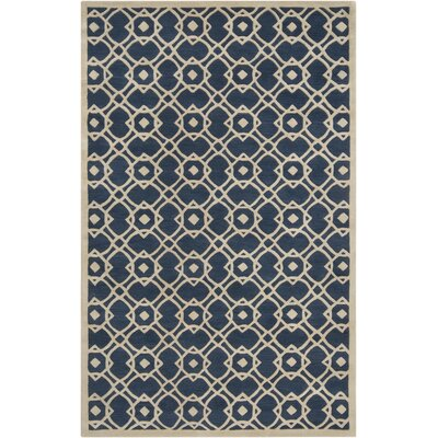 Quenton Navy Area Rug Rug Size: Rectangle 5 x 8
