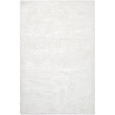 Noma White Solid Area Rug Rug Size: 5 x 8