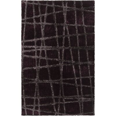 Halterman Wine/Raisin Geometric Area Rug Rug Size: 5 x 8