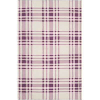 Jacob Pink Area Rug Rug Size: Rectangle 36 x 56