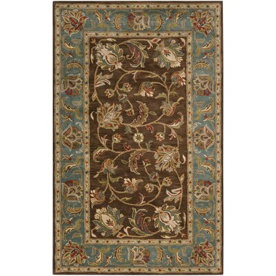 Queenswood Chocolate/Ivory Rug Rug Size: 2 x 3