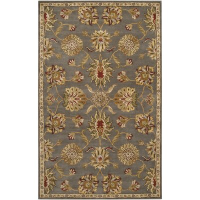 Queenswood Gray/Gold Rug Rug Size: 2 x 3