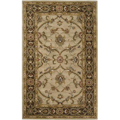 Queenswood Dark Brown/Tan Rug Rug Size: 8 x 10