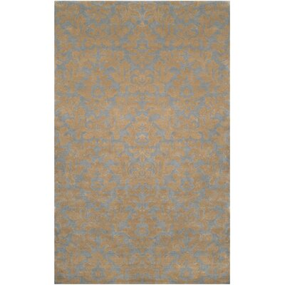 Bogard Beige/Blue Rug Rug Size: Rectangle 33 x 53