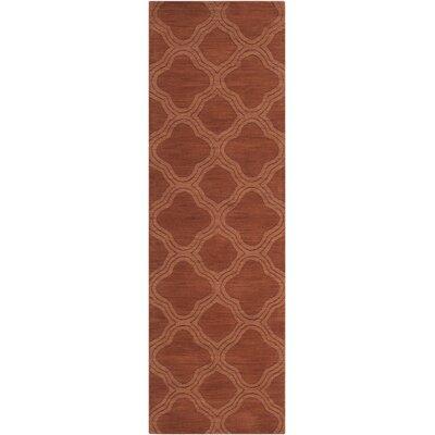 Mystique Wool Cinnamon Spice Area Rug Rug Size: Runner 26 x 8