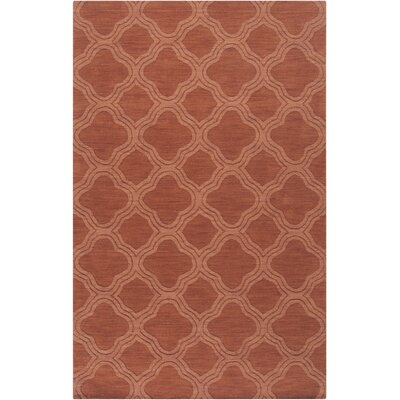 Mystique Wool Cinnamon Spice Area Rug Rug Size: Rectangle 5 x 8