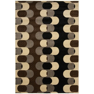 Maire Black/Blue Gray Area Rug Rug Size: Rectangle 53 x 73