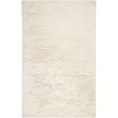 Halpern Hand Woven Wool White Area Rug Rug Size: Rectangle 5 x 8