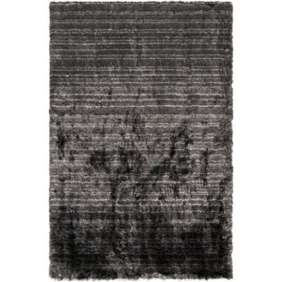 Halsted Black Area Rug Rug Size: Rectangle 5 x 8
