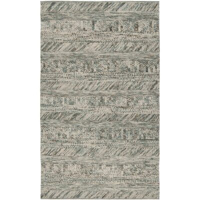Shutesbury Hand Woven Wool Teal Green Area Rug Rug Size: Rectangle 8 x 10