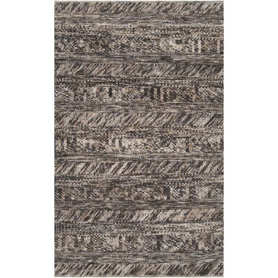 Shelton Hand Woven Wool Gray/Brown/Beige Area Rug Rug Size: Rectangle 5 x 8