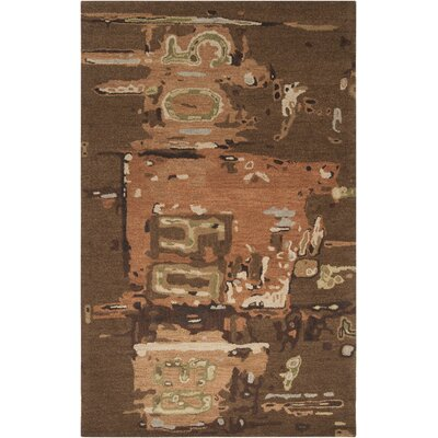 Lisa Dark Olive Green Rug Rug Size: Rectangle 9 x 13