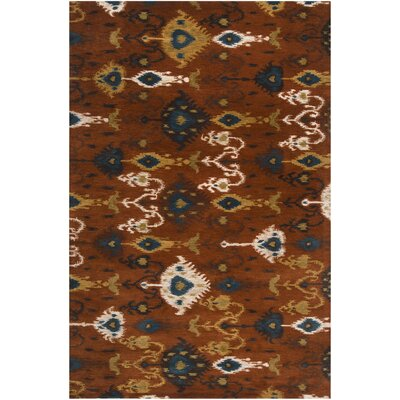 Alica Rust Rug Rug Size: Rectangle 5 x 8