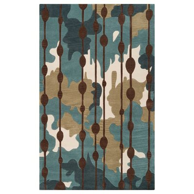 Marcela Slate Blue/Palm Green Rug Rug Size: Rectangle 5 x 76