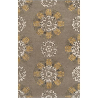 Charleston Hand-Tufted Taupe Area Rug Rug Size: 2 x 3