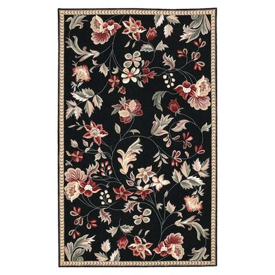 Lavelle Black/Rose Area Rug Rug Size: Rectangle 26 x 4