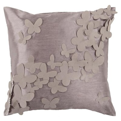 Cherie Fly Away Throw Pillow Size: 18 x 18, Color: Elephant Gray/Cobble Stone, Fill Material: Polyester