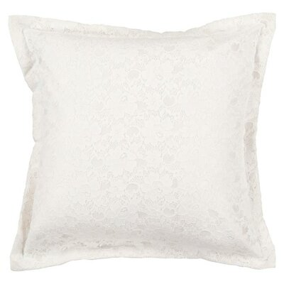 Leighton Buzzard Flower Lace Throw Pillow Size: 22, Color: White/Winter White, Filler: Polyester
