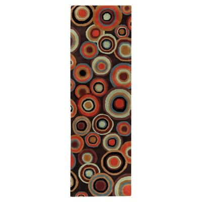 Mattox Brown Rug Rug Size: Runner 26 x 8