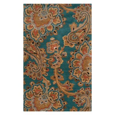 Busch Teal & Blue Area Rug Rug Size: Rectangle 5 x 8
