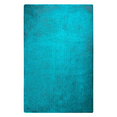 Braun Hand Woven Deep Sky Blue Area Rug Rug Size: Rectangle 76 x 96