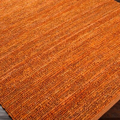 Bonnett Hand Woven Orange Area Rug Rug Size: Rectangle 2 x 3