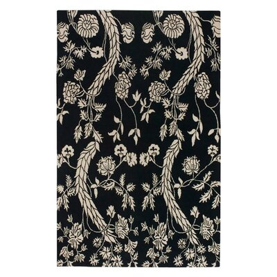 Haynes Black/Cream Area Rug Rug Size: Rectangle 2 x 3