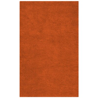 Bonney Hand Woven Wool Rust Red Area Rug Rug Size: Rectangle 5 x 8