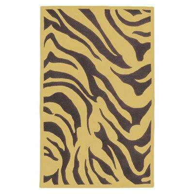Kermit Dark Plum Zebra Printed Area Rug Rug Size: 9 x 13