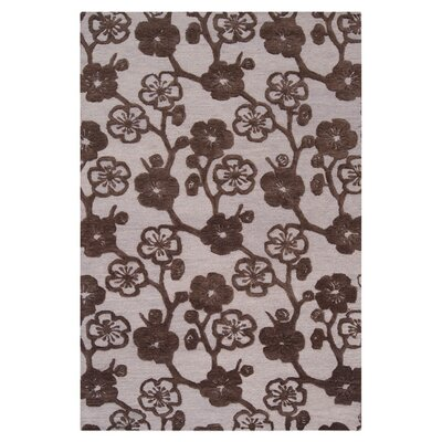Evelia Bone/Espresso Area Rug Rug Size: Rectangle 9 x 13