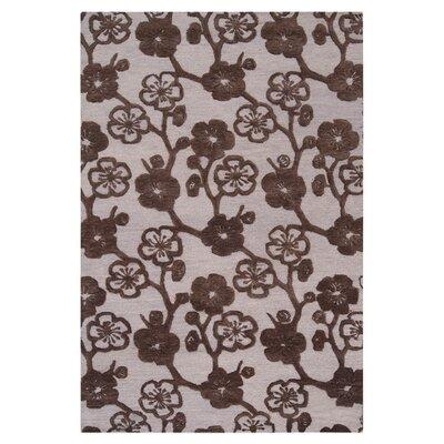 Evelia Bone/Espresso Area Rug Rug Size: Rectangle 9' x 13'