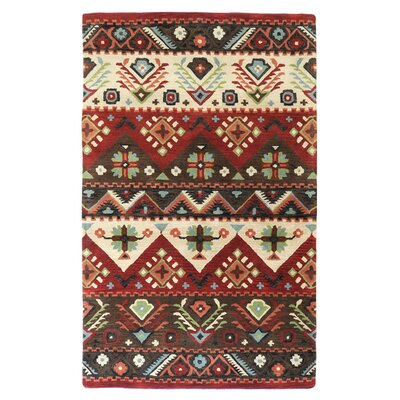 Westerlo Burgundy Area Rug Rug Size: Rectangle 33 x 53