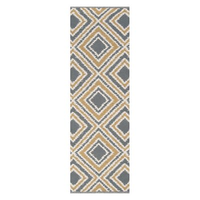 Halycon Hand-Woven Wool Pewter/Cumin Area Rug Rug Size: Runner 26 x 8