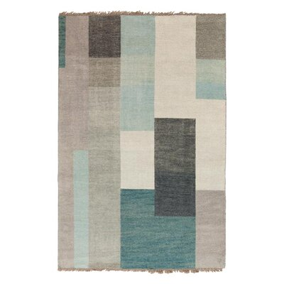 Crisfield Hand-Knotted Dove Gray Area Rug Rug Size: 2' x 3'